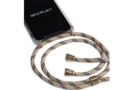NECKLACY Necklace Case Classic Birch , Backcover, Huawei, P30 Lite, Thermoplastisches Polyurethan, Champagne/Transparent
