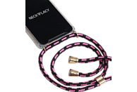 NECKLACY Necklace Case Pink Infusion , Backcover, Huawei, P30 Pro, Thermoplastisches Polyurethan, Pink/Transparent