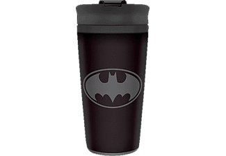 PYRAMID INTERNATIONAL Batman Travel Mug Reisebecher, Schwarz/Grau