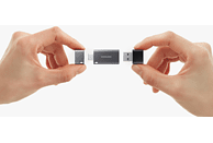 SAMSUNG Flash Drive DUO Plus USB-Stick, Silber/Schwarz
