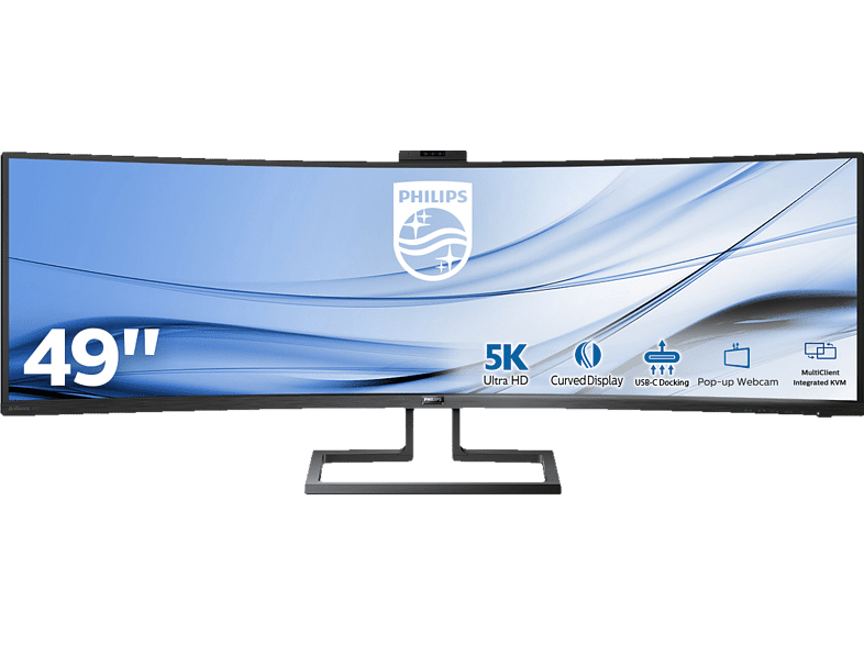 PHILIPS 499P9H 48.8 Zoll 5K Ultrawide Monitor (5 ms Reaktionszeit, FreeSync, 60 Hz)