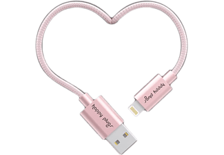 HAPPY PLUGS Câble lightning 2 m Pink Gold (157009)