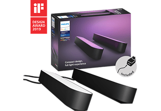 PHILIPS HUE Lampe d'ambiance Hue Play Pack x2 Noir (7820230P7)