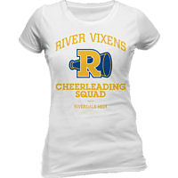CID COMPLETELY INDEPENDENT Riverdale Girlie T-Shirt RIVER VIXENS T-Shirt, Weiß