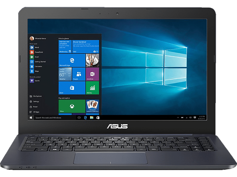 ASUS Laptop R417 (R417YA-FA090TS), Notebook mit 14 Zoll Display, E2 Prozessor, 4 GB RAM, 64 GB eMMC, Radeon™ R2, Dark Blue