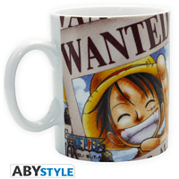 ABYSTYLE ONE PIECE 460 ml Luffy Wanted Tasse, Mehrfarbig