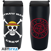 ABYSTYLE ONE PIECE Thermobecher Luffy To-Go Becher, Mehrfarbig