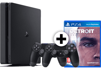 SONY PS4 1TB F Chassis Black μαζί με 2o Dualshock 4 και Detroit Become Human