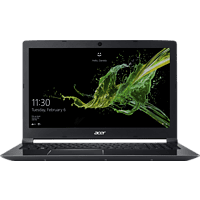 ACER Aspire 7 (A715-72G-79J3), Gaming Notebook mit 15.6 Zoll Display, Core™ i7 Prozessor, 16 GB RAM, 128 GB SSD, 1 TB HDD, GeForce GTX 1050Ti, Schwarz