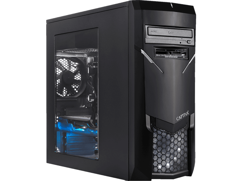 CAPTIVA R50-289, Gaming PC mit Ryzen 7 Prozessor, 16 GB RAM, 240 GB SSD, 1 TB HDD, GeForce RTX 2060 , 6 GB