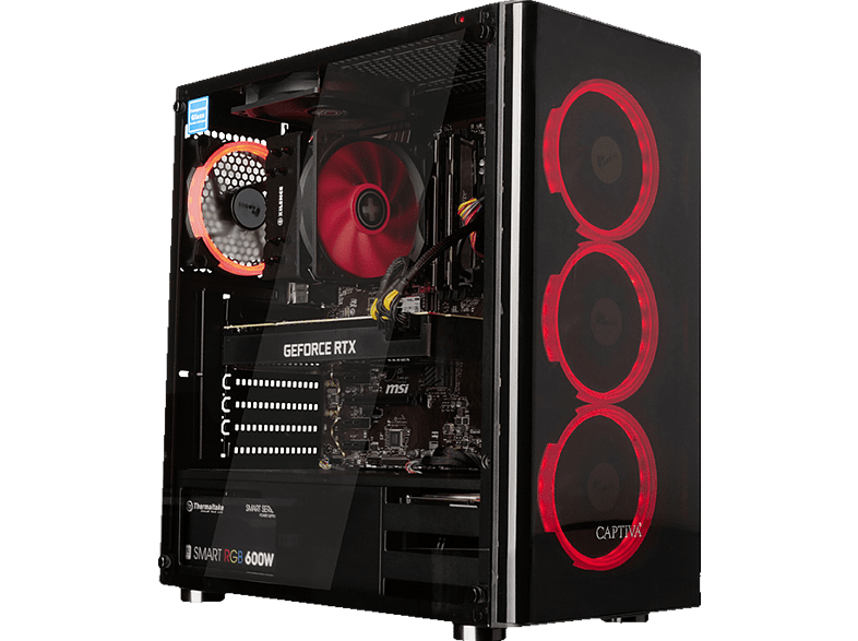 CAPTIVA R50-290, Gaming PC mit Ryzen 7 Prozessor, 16 GB RAM, 240 GB SSD, 1 TB HDD, GeForce RTX 2070 SUPER , 8 GB