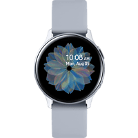 SAMSUNG  Galaxy Watch Active2 Aluminium 40mm CS Smartwatch Aluminium, Fluorkautschuk, S/M, Cloud Silver