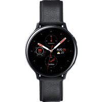 SAMSUNG  Galaxy Watch Active2 Stainless Steel 44mm BK Smartwatch Edelstahl, Echtleder, M/L, Black