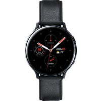 SAMSUNG  Galaxy Watch Active2 Stainless Steel 44mm (LTE) BK Smartwatch Edelstahl, Echtleder, M/L, Black