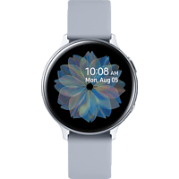 SAMSUNG  Galaxy Watch Active2 Aluminium 44mm CS Smartwatch Aluminium, Fluorkautschuk, M/L, Cloud Silver