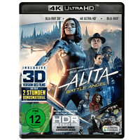 Alita - Battle Angel (4K Ultra HD) (+ Blu-ray 3D) (+ Blu-ray 2D) [Blu-ray]