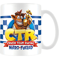 PYRAMID INTERNATIONAL Crash Bandicoot Tasse Crash Test Racing Flag Tasse, Mehrfarbig