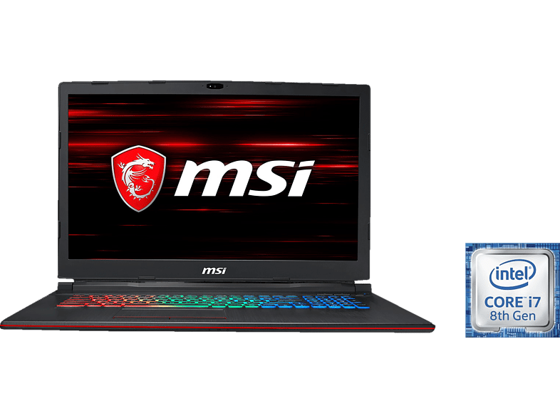 MSI GP73 8RD-056DE Leopard, Gaming Notebook mit 17.3 Zoll Display, Core i7 Prozessor, 16 GB RAM, 256 GB SSD, 1 TB HDD, GeForce® GTX 1050 Ti, Schwarz