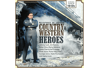 VARIOUS - MILESTONES OF LEGENDS COUNTRY & WESTERN HEROES - (CD)