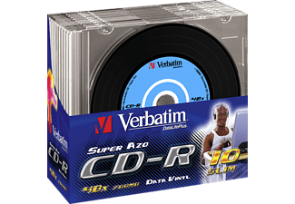 VERBATIM 43426 VINYL SLIM CD-R 700MB 52X, Rohling, 10er Pack Slim Case