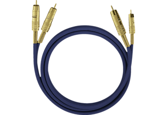 OEHLBACH 2035 NF 1 Set 1x 2 m, Cinch-Kabel, 2000 mm, Blau