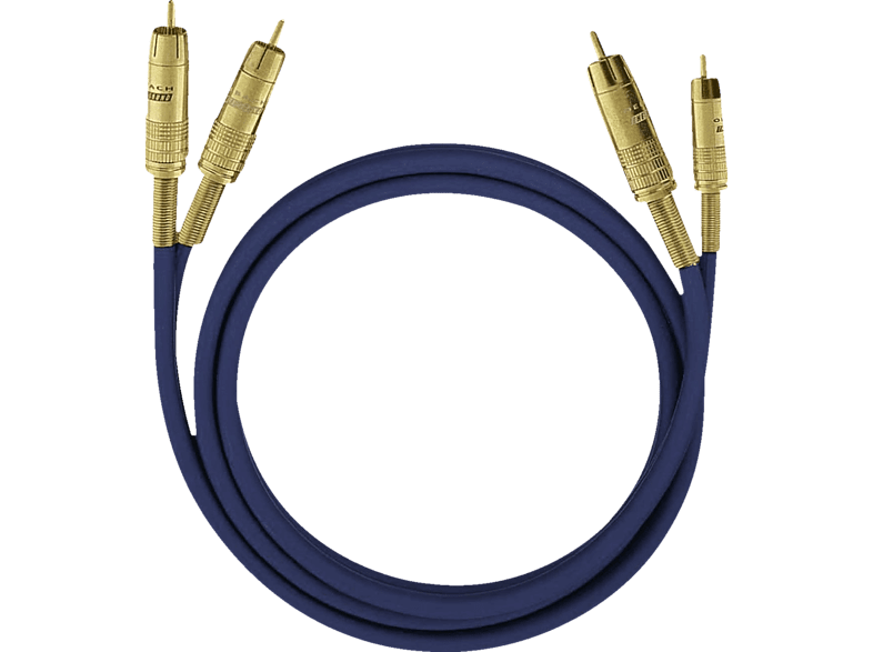 OEHLBACH  2032 NF 1 Set 1x 1 m Cinch-Kabel, Blau | 04003635020326