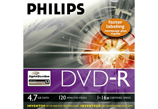 PHILIPS DVD-R 16X JEWEL (10)